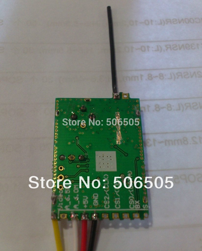 24 channels 5.8Ghz  Wireless  Audio and Video Receiver Module 5.8Ghz wireless receiver enlarge