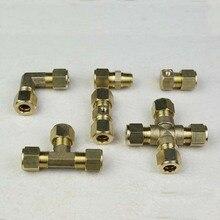 Tuyau de connexion deau 9.52mm   joint de tuyau pour système de refroidissement au brouillard, connecteur de raccord rapide en laiton, 10 pièces/lot