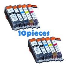 10 pièces PGI725 CLI726 cartouches dencre Pour canon PGI 725 CLI 726 IP4870 IP4970 IX6560 MG5170 MG5270 MG5370 MG6170 MG6270 imprimantes