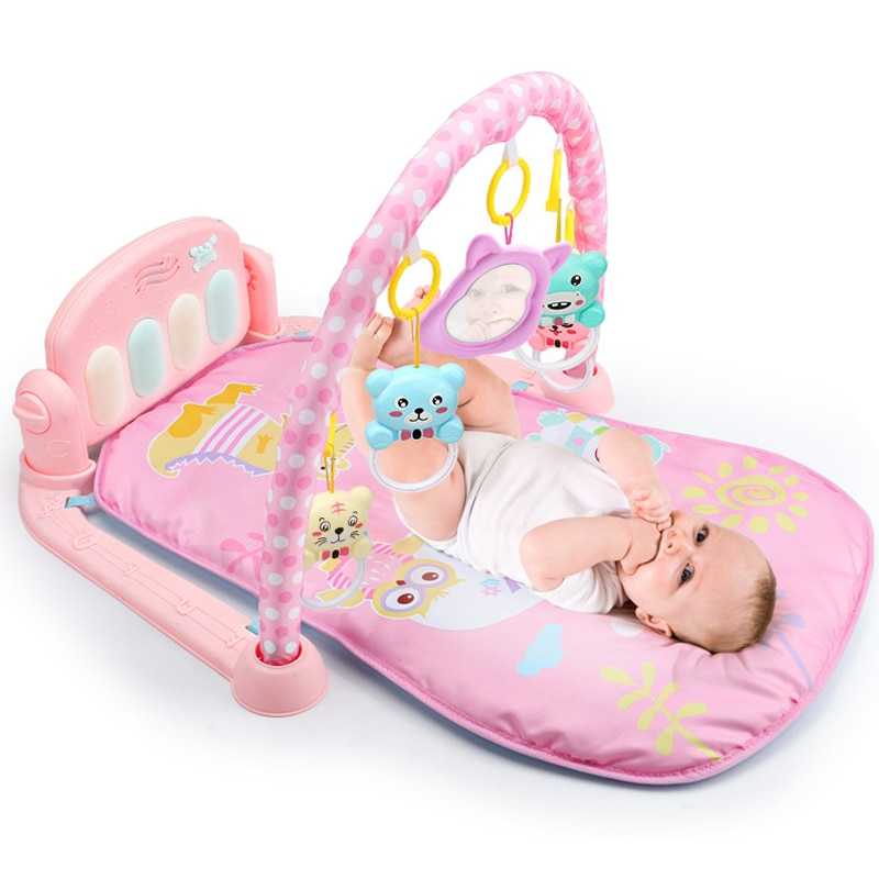 baby activity play mat baby gym educational fitness frame multi bracket baby toys game mats play lay sit toy with piano mirror Baby Play Mat 3 in 1Baby Gym Toys Soft Lighting Rattles Musical Toys For Babies Educational Toys Play Piano Gym Baby Gifts
