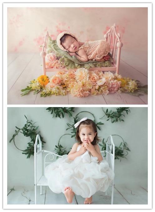 Newborn photography props iron bed creative baby princess infant cute photo studio