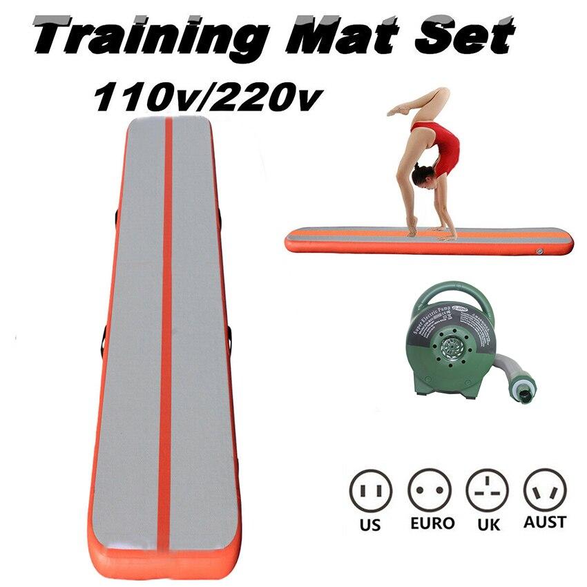 3m x 1m x 10cm pista de aire inflable gimnasia de equipos de entrenamiento ejercicio Fitness Yoga Mat ejercicio colchoneta plegable