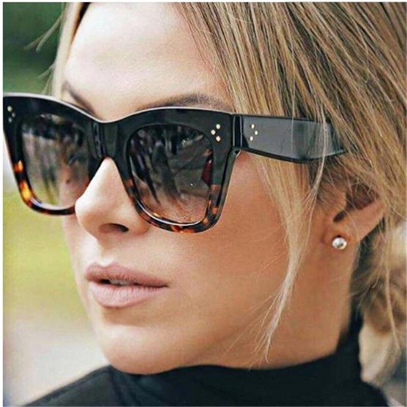 2018 Fashion Square Sunglasses Women Luxury  New Cat Eye Sunglasses Vintage Cat eye Sun Glasses Sunglasses For Female UV400