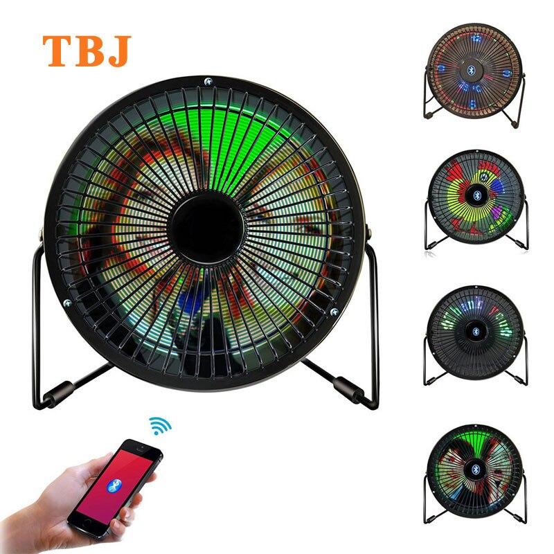 Mini USB Bluetooth a todo Color mesa de visualización de mensajes Digital ventilador Led iOS y aplicación de ventilador de teléfono Android