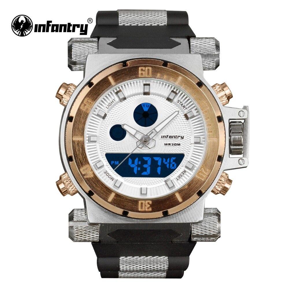 Мужские часы в стиле милитари, светодиодный кварцевые часы для мужчин, брендовые Роскошные армейские тактические сверхмощные силиконовые ...
