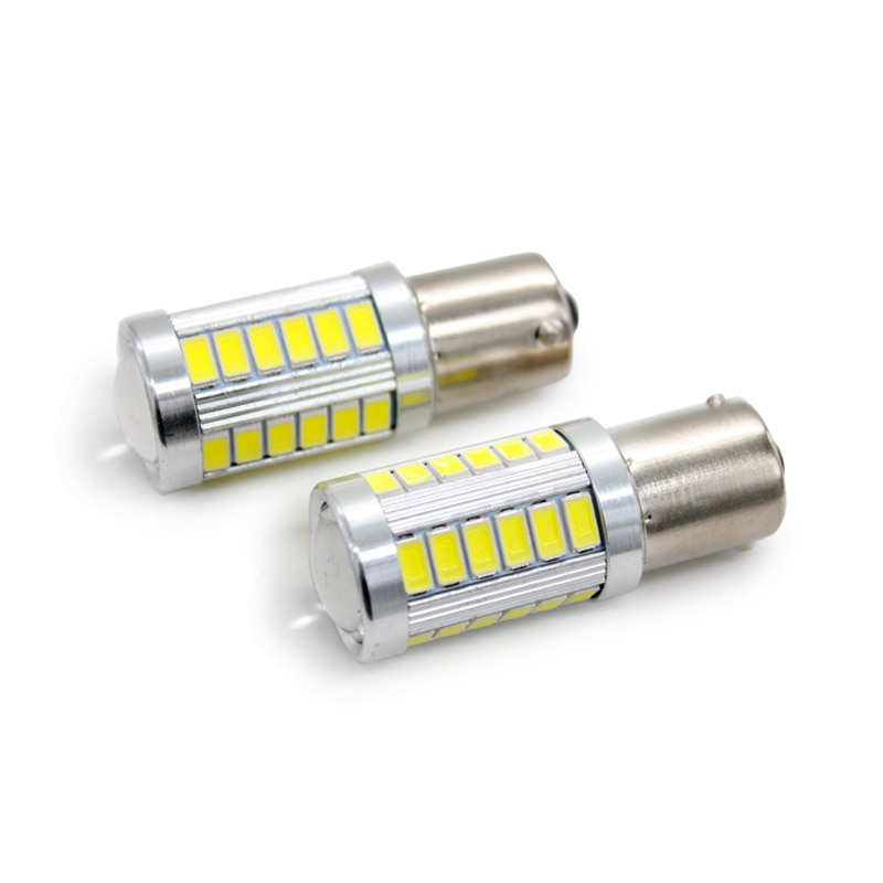 2 Pçs/lote SUNKIA 1156 BA15S P21W 5730 5630 33SMD LED Lâmpada Com Len Cauda Luzes de Freio Do Carro Auto Reverso Da Lâmpada de Circulação Diurna Ligh