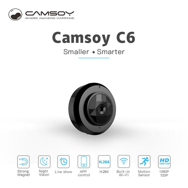C6 Camsoy Cookycam Micro Wifi Mini Kamera Drahtlose HD 720 P Mit Nachtsicht Smartphone App IP Home Security Video camcorder