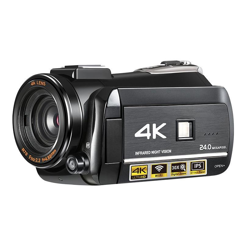 Cámara de vídeo portátil con pantalla táctil de 3,1 pulgadas, micrófono incorporado,...