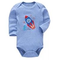 1pcs newborn bodysuit baby girl boy clothes 100cotton cartoon print long sleeves infant clothing 0 24 months