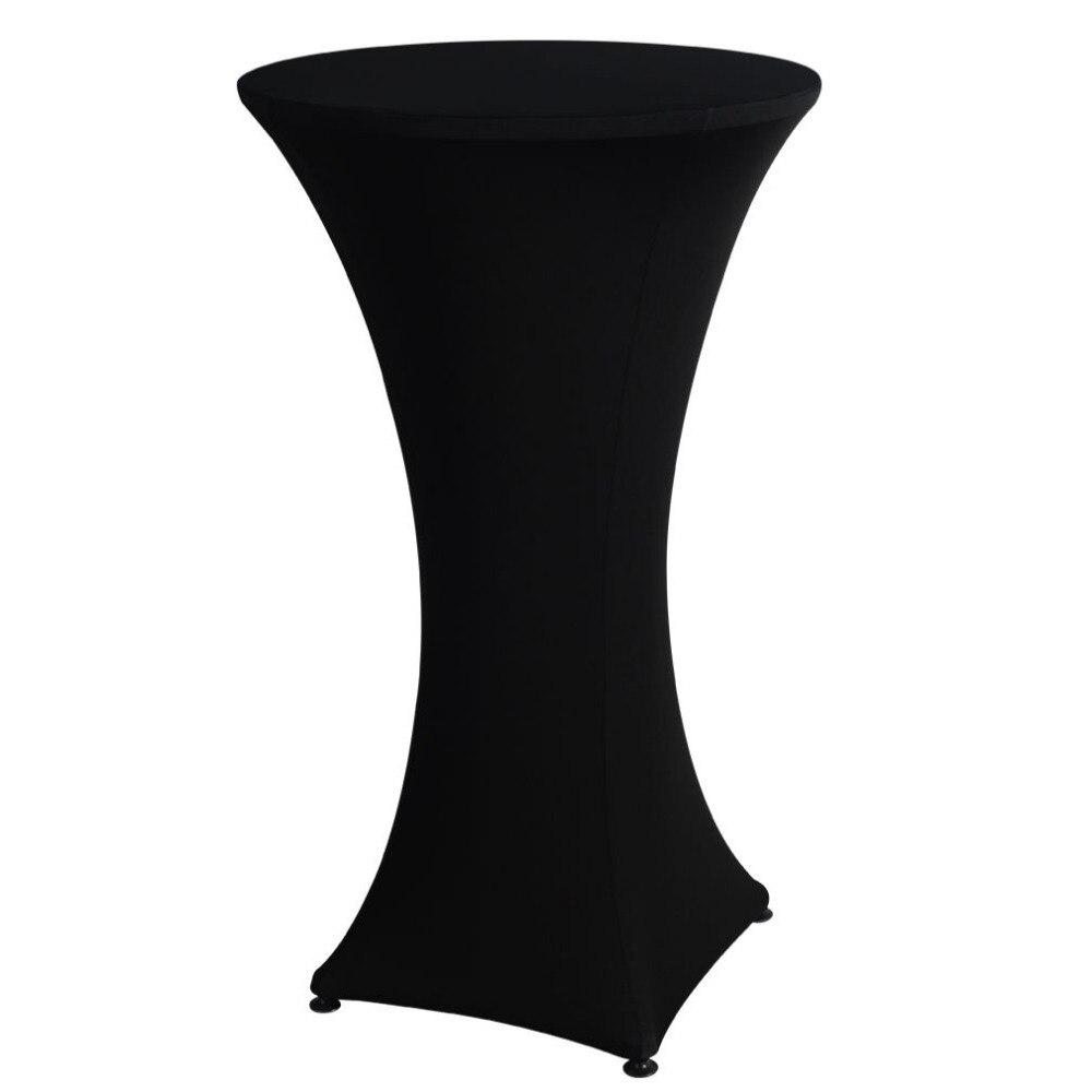 4 ноги 60 см посейр коктейль бар стол спандекс лайкра покрытие скатерть Свадебная вечеринка событие украшения