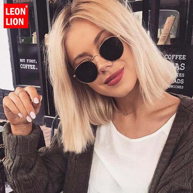aliexpress.com - LeonLion 2021 Classic Small Frame Round Sunglasses Women/Men Brand Designer Alloy Mirror Sun Glasses Vintage Modis Oculos