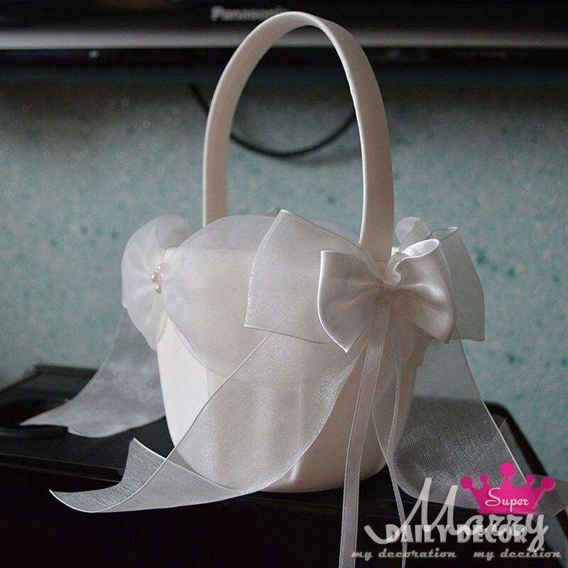 Cesta de boda con lazo de encaje, accesorios de boda, buena calidad,...