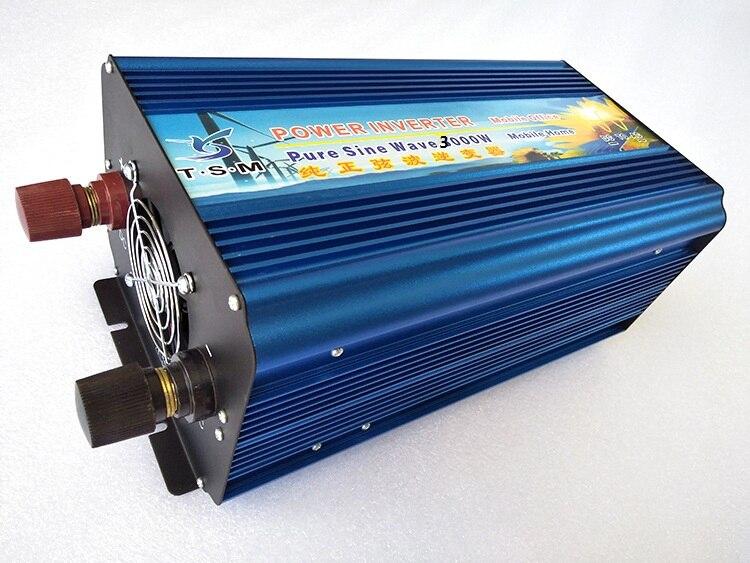 Uso doméstico fuera de la red 3000W DC48V a AC220V inversor de onda sinusoidal pura para sistema solar