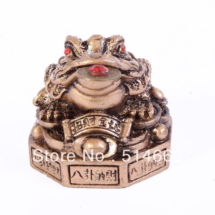 Feng Shui Chinese Resin Bagua Three Legged Money Frog statue/Bagua Three Legged Money Toad/ resin money frog
