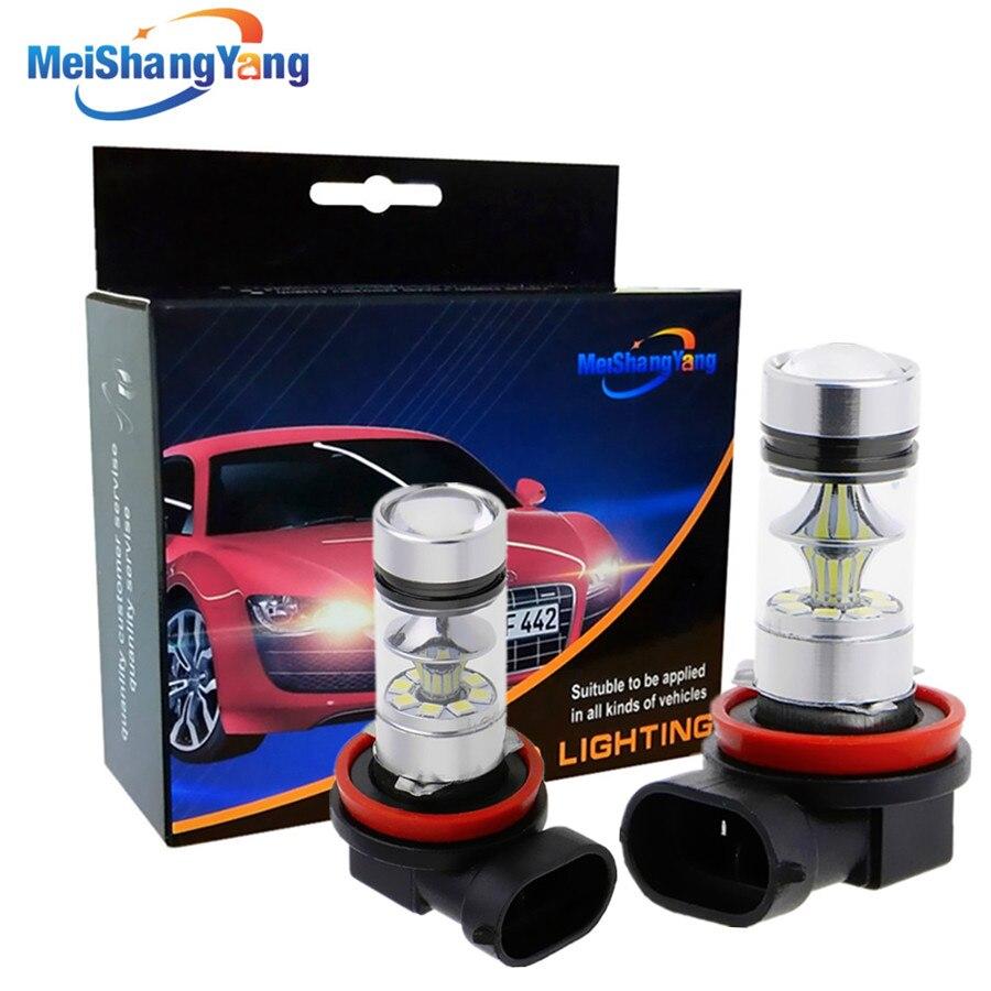 Сверхъяркие светодиодные лампы H8 H11 1250LM, Автомобильные противотуманные фары s, задний фонарь, Автомобильный источник света для парковки, 12В...