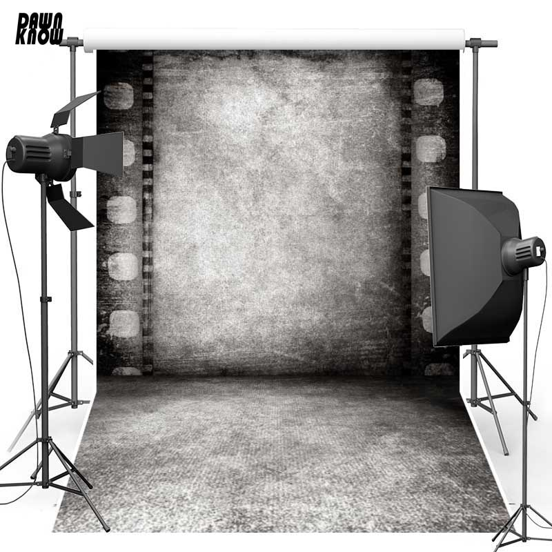 Dawnknow backdrops vinil poliéster do vintage fundo fotografia retro rolo de concreto parede filme para o casamento photo studio f637
