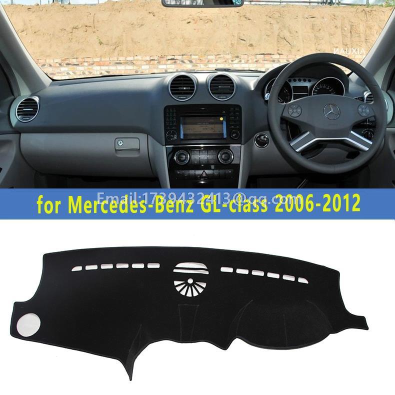Carro-styling Dashmats Acessórios Tampa Do Dashboard Para Mercedes-Benz CLASSE GL GL300 GL350 GL450 GL400 GL500 GL550 2006-2012 RHD