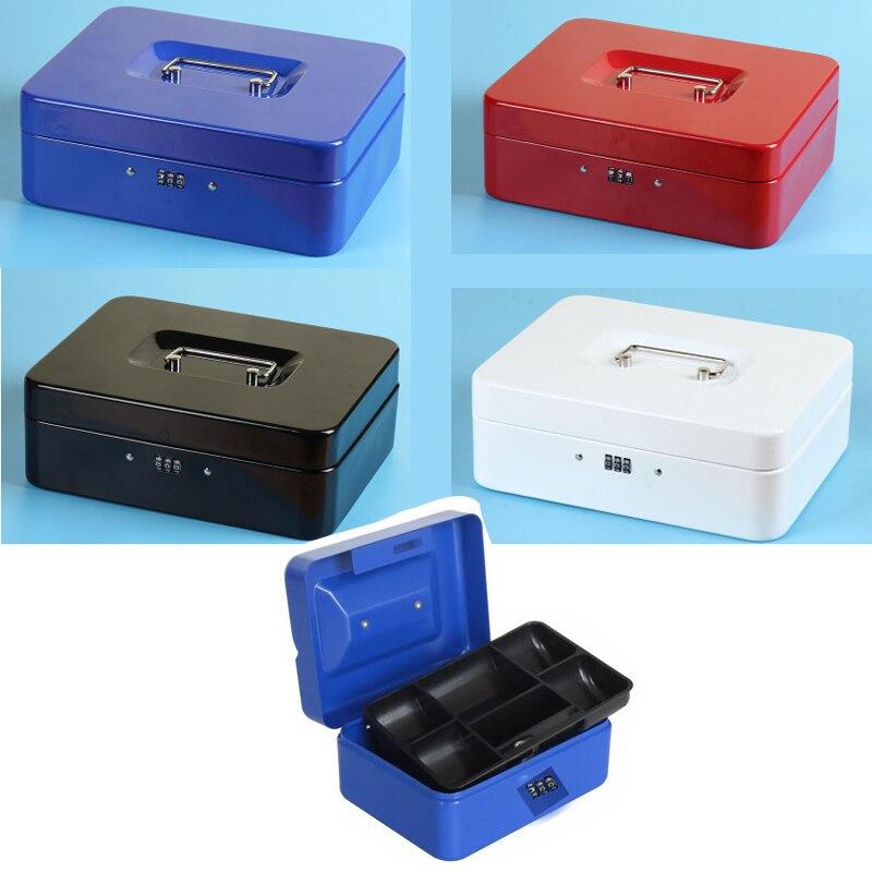 Caja de Seguridad portátil 2020, caja de joyas con dinero, caja de almacenamiento de colección, compartimiento para hogar, escuela y oficina, caja con contraseña