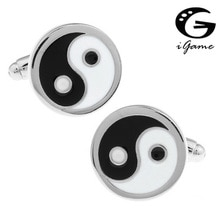 iGame Eight Tri-grams Cuff Links Brass Material Chinese Design Free Shipping