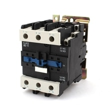 AC3 continue 80A 3 pôles + 1NC + 1NO + 1NO, bobine 220V avec 125A et 3 phases, contacteur à ca, relais de démarreur, DIN Rail