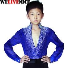 2017 latin dance pants mens for kids white black latin dance shirts men dance clothes men boy Set men latin dancewear #7218