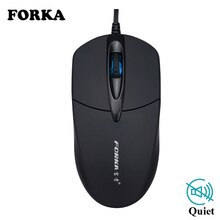 Forka Usb Bedrade Muis Silent Klik Led Optische Muis Gamer Pc Laptop Notebook Muis Muizen Voor Home Office gebruik