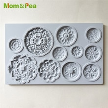 Mom&Pea GX267 Round Deco Shaped Silicone Mold Cake Decoration Fondant Cake 3D Mold Food Grade