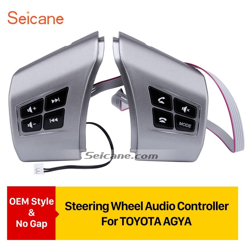 Seicane Автомобильная музыкальная громкость Bluetooth телефонный звонок Кнопка дистанционного управления для TOYOTA AGYA изучения рулевого колеса аудио контроллер