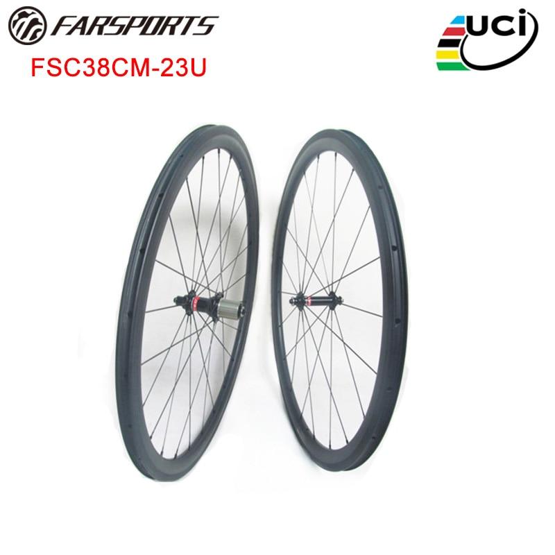 Novatec carbon wheelsets 700C 38mm 23mm aero U shape 3K matte Sapim aero spokes wheelsets Novatec A291SB F482SB