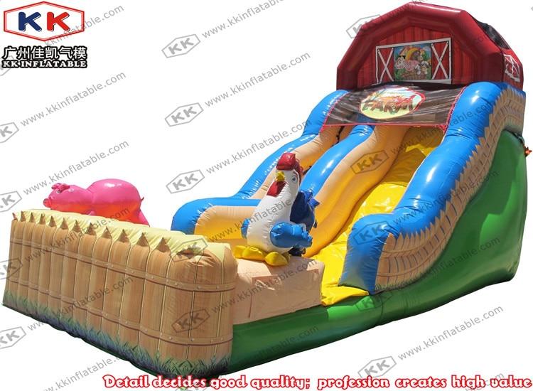 Incrível Feliz Fazenda inflável slides crianças corrediças infláveis para o comércio justo
