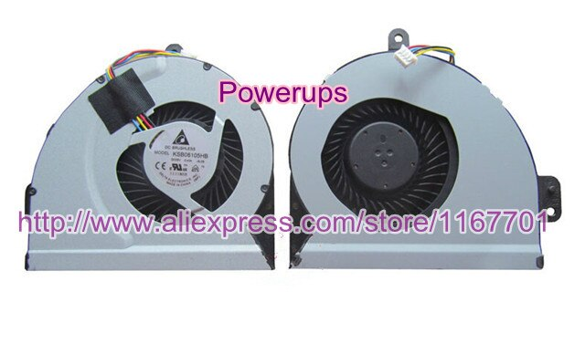 Do laptop original cpu cooling fan fit for asus x44l-bbk4 x54h A54L X54L X84 X44H X84L K53S A53S notebook 0.4A KSB06105HB-AL09 4pin