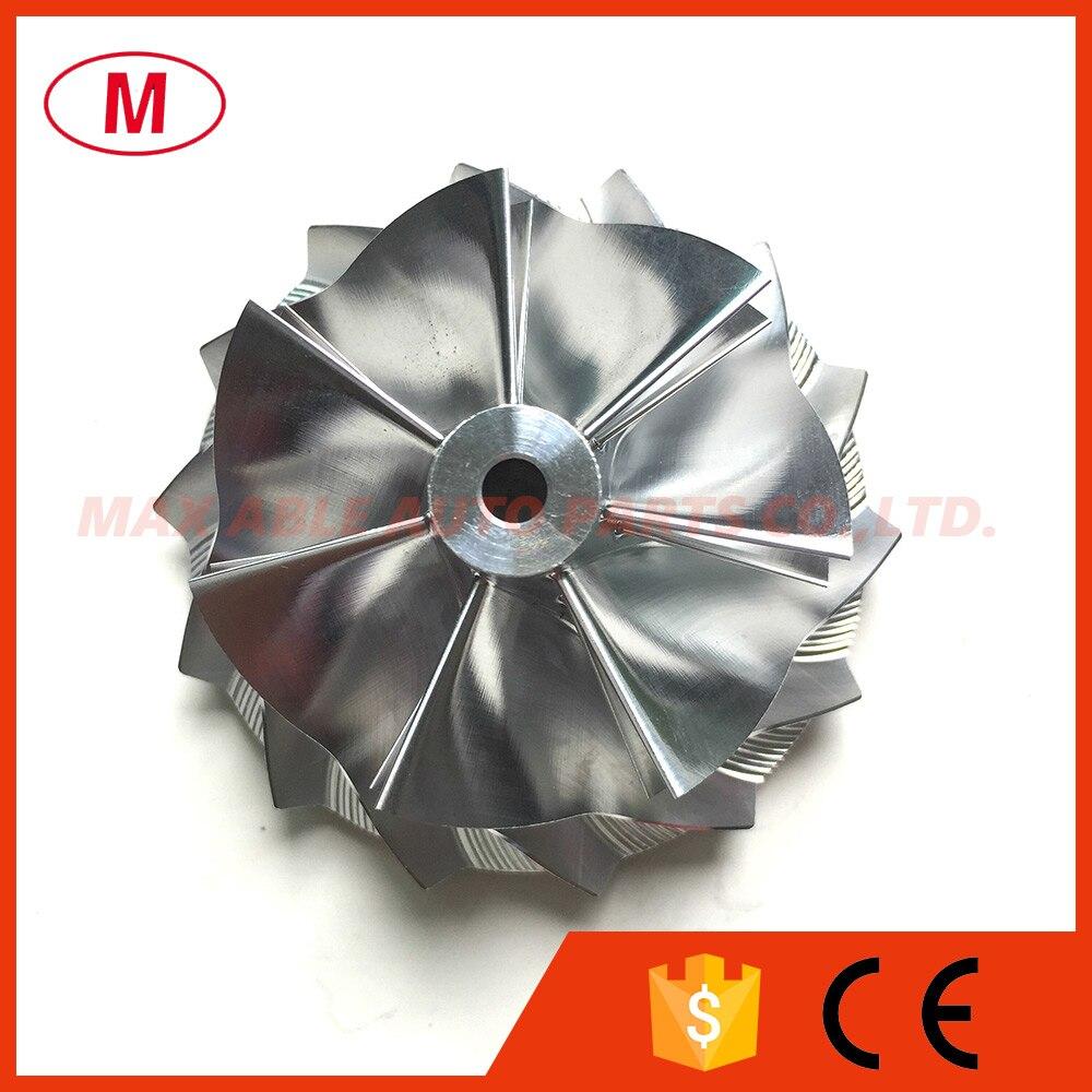 KP39 43,00/53,00mm 7 + 7 cuchillas adelante de alto rendimiento Turbo compresor rueda/aluminio 2618/ de la rueda del compresor
