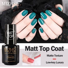 Capa superior mate de MIZHSE, esmalte de uñas mate, capa superior de uñas UV LED para diseño de uñas, esmalte transparente para uñas mate Vernis Ongle