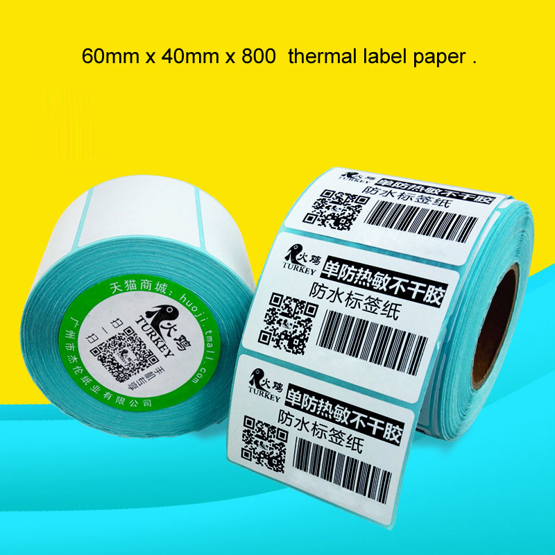High quality thermal label paper  60mm x 40mm x 800