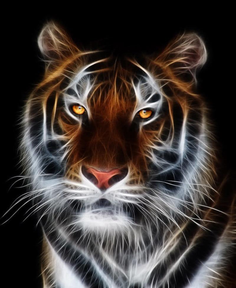 Bordado de diamante completo de Tigre, pintura de diamante animal, pintura de diamante 3d, pintura de diamante Tigre