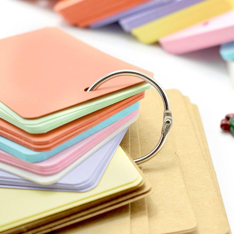 Lindo color caramelo kawaii vacío Kraft Nota de papel Pads Bloc de notas palabra estudio tarjeta portátil Bloc de notas hojas para notas DIY Bloc de notas