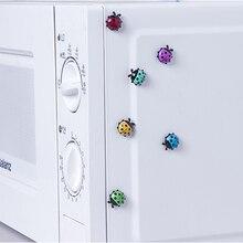 6Pcs Schöne Marienkäfer kühlschrank magnete home decor dekorative kühlschrank Magnetischen aufkleber Raum Dekoration Nachricht papier Feste paste