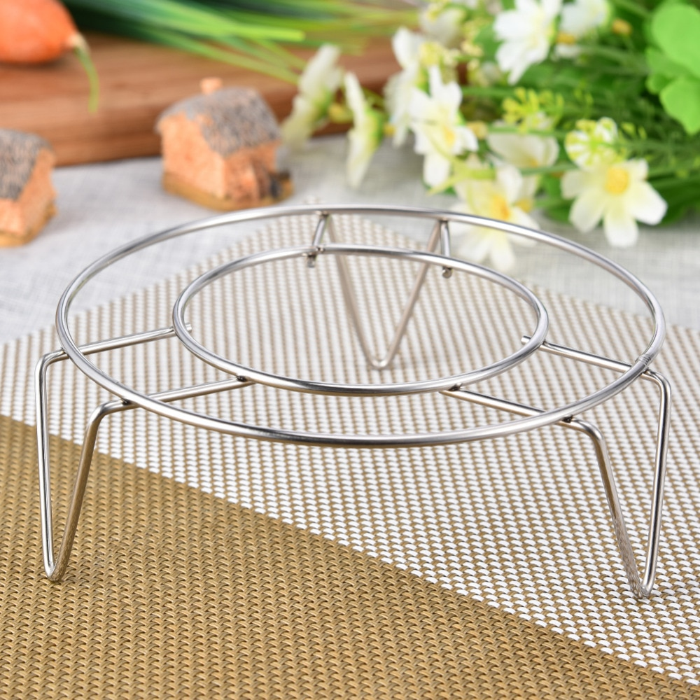 4 tamanho de aço inoxidável steamer rack multi-purpose bandeja de vapor inserção estoque pote bandeja de vapor suporte de cozinha panelas