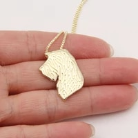 spinone italiano proflile necklace 3d cut out puppy dog lover pendant memorial necklaces pendants christmas gift lead free
