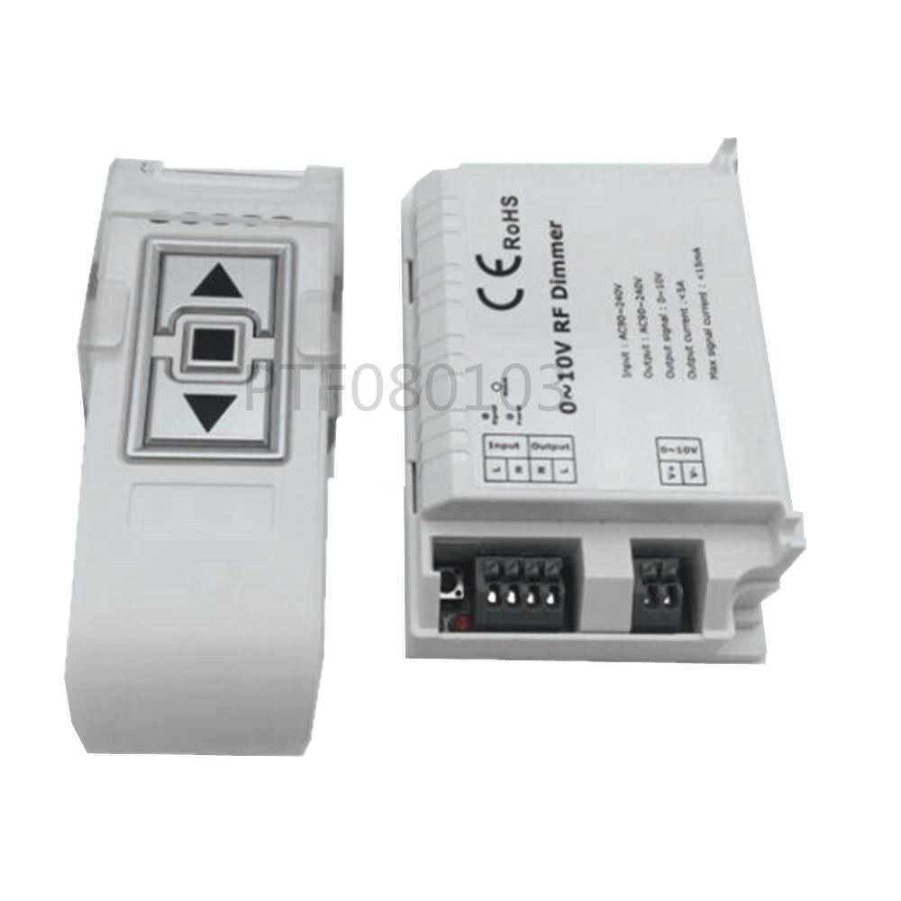 New DM015 Led Penal Light Dimmer 220V AC High Voltage 0-10V LED RF Dimmer ON/OFF Switch 3 Key Remote Dimming Controller