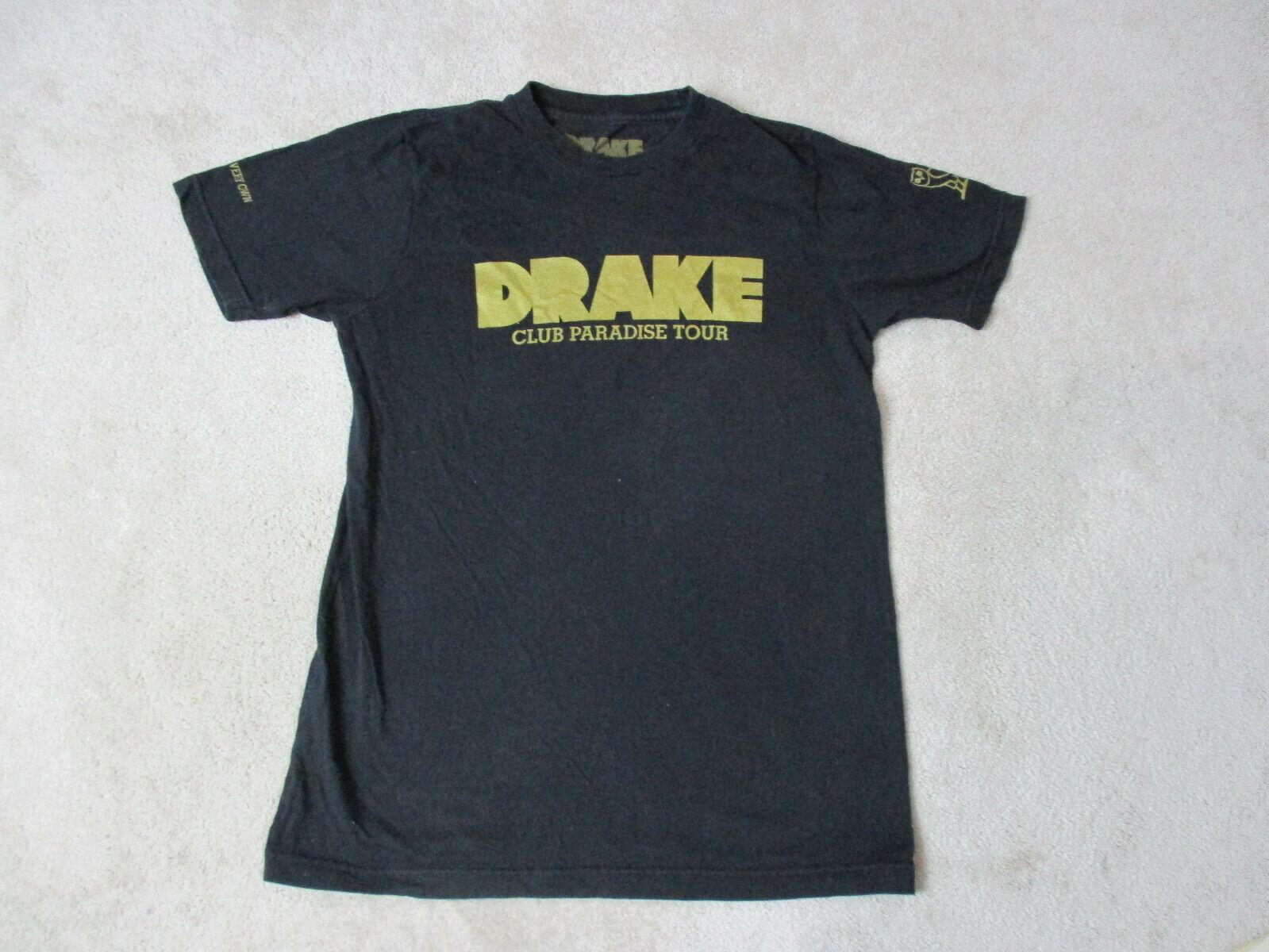 Drake Club Paradise Concerto Camisa Adulto Pequeno Ouro Negro Cash Money Rap Hip Hop Moda Unissex Camiseta top tee