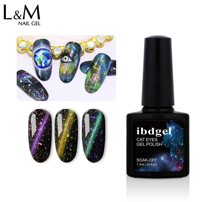 40 Uds conjunto ibdgel uñas de gato artístico ojo Gel UV polaco camaleón holográfico magnético barniz de Gel para remojo 6 colores negro de una base de