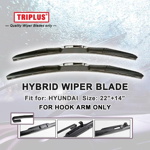 """Escobilla limpiaparabrisas híbrida para Hyundai Getz (2002-2009) 1 juego 22 """"+ 14"""", limpiaparabrisas gancho U gancho J limpiaparabrisas"""