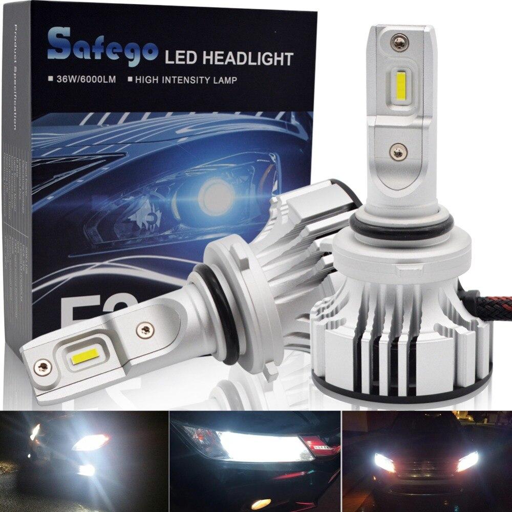36W H11 H4 H7 Car LED Headlight Kit - Safegp H8 H9 9005 9006 Bulbs 2 Super Bright LED Chips 6000Lm Auto Bulb White 6000K