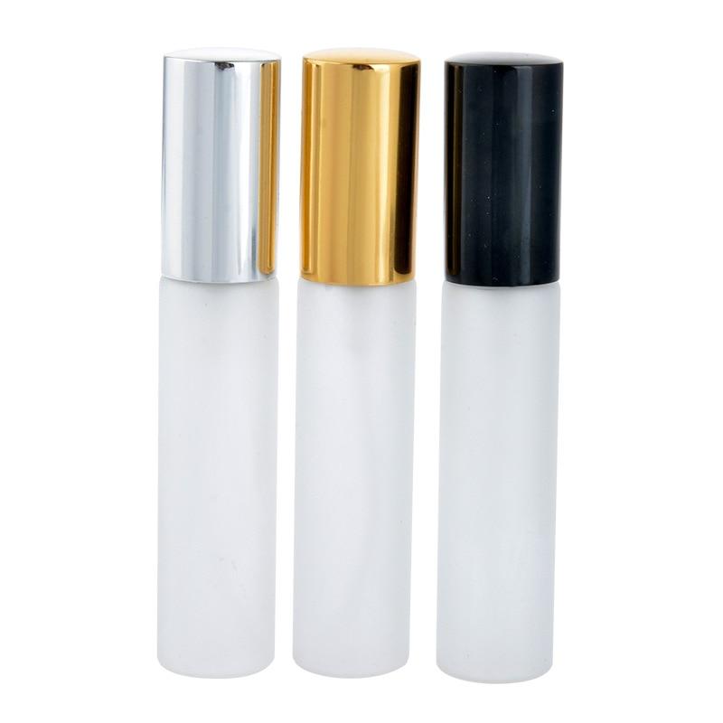 DHL شحن 200 قطعة/الوحدة 10 مللي صقيع الزجاج إعادة الملء عطر بخاخ زجاجة مع الألومنيوم البخاخة الخالي عطر حالة