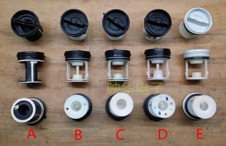 Bomba de drenaje para lavadora, filtro de salida, red tipo A