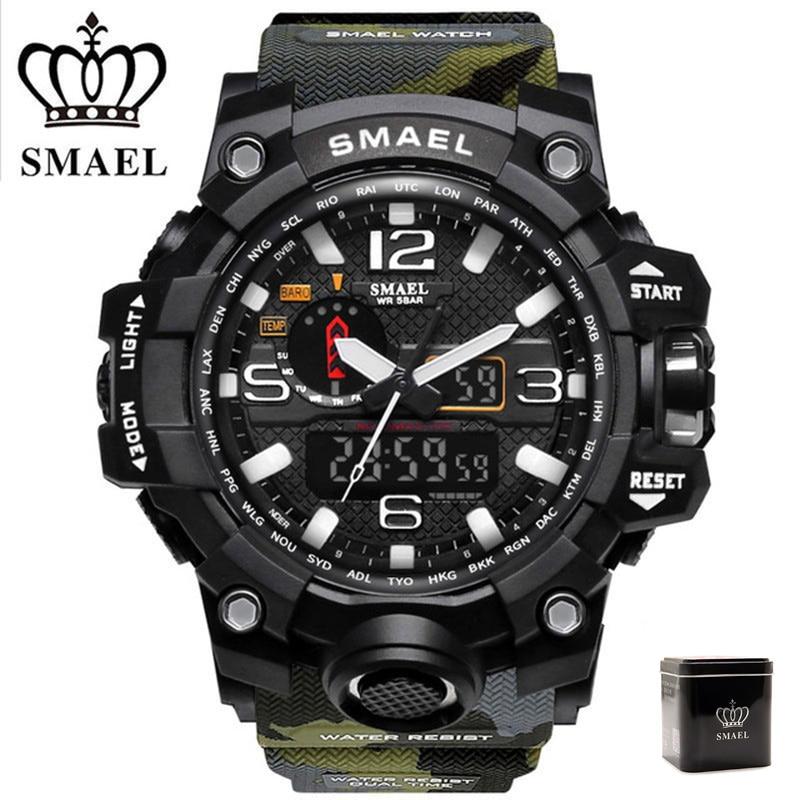 SMAEL Military Watch Men Digital-watch G Style Fashion Sport Watches Waterproof LED Wristwatches Mens Camo Army Clock erkek saat