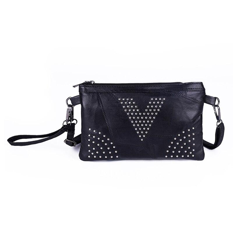 Pu Leather Black Handbags Women Clutch Bag Messenger Bag Leather Shoulder Crossbody Bag Mobile Phone Envelopes Packets