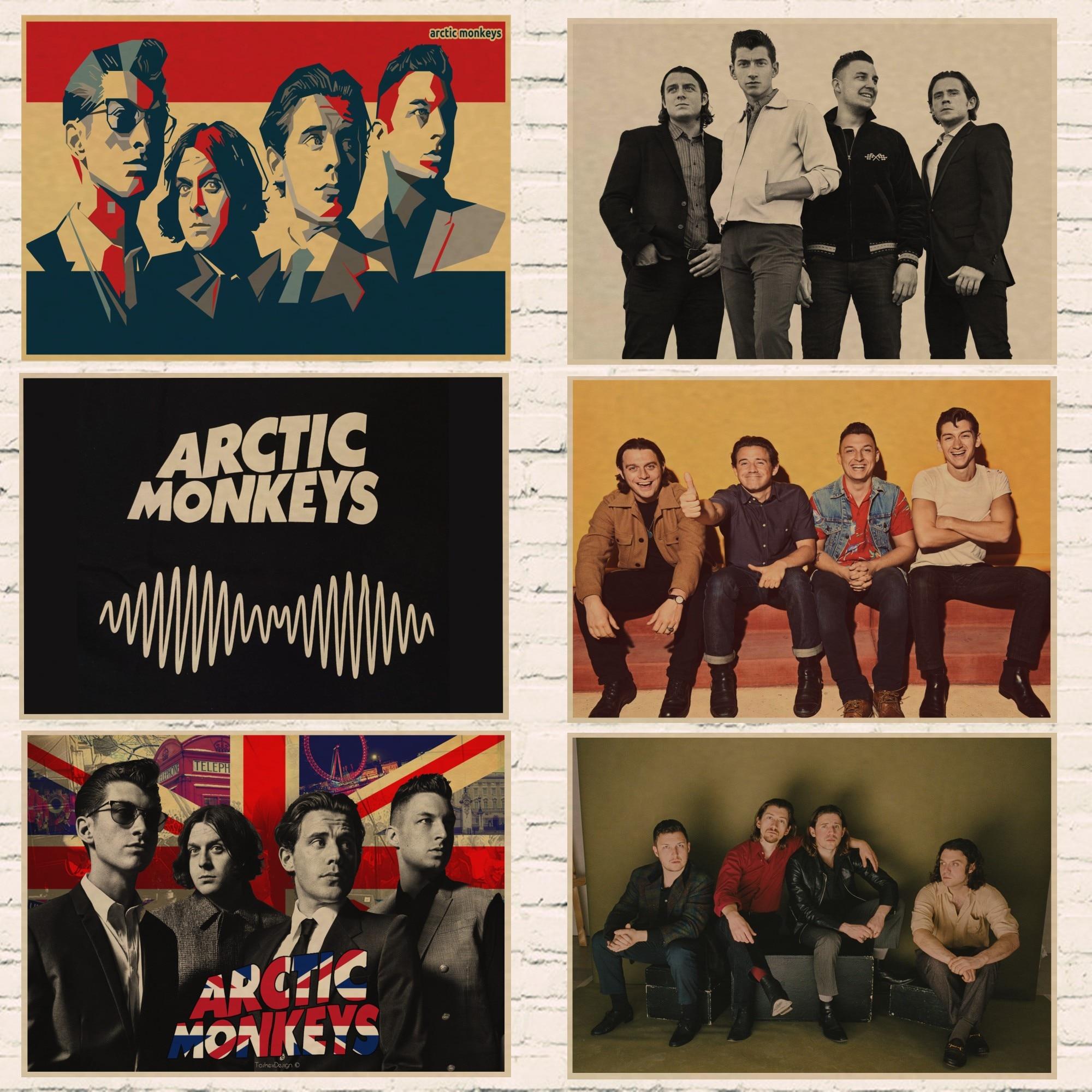 Arctic Monkeys украшение для дома крафт-кислота Рок Музыка плакат Рисование ядро наклейки на стену 02