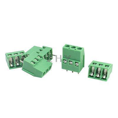 5 uds KF129 separación 5mm 3Pin PCB Bloque de terminales de tornillo conector 300V 25A